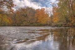 Thornapple River in Alaska, Michigan Royalty Free Stock Photos