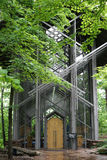 Thorncrown Chapel - exterior entry Stock Images