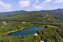 Thorne Pond em Bartlett, New Hampshire, EUA Fotografia de Stock