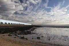 Thorney海湾, Canvey海岛,艾塞克斯,英国 免版税图库摄影