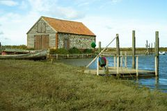 Thornham hamn i Norfolk, UK arkivfoton