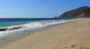 Thornhill Broome Beach. Looking northwest along the shore at Thornhill Broome Beach, Malibu, California Royalty Free Stock Images