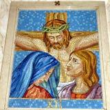 Thornhill St. Paschal Baylon Church die 12. Station des Kreuzes Stockbilder