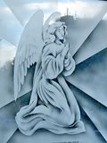 Thornhill St Paschal Baylon Church picture of angel on glass 2018. Picture of angel on glass in St Paschal Baylon Church in Thornhill, Canada, February 18, 2018 stock image