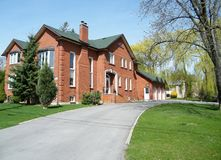 Thornhill Very nice red house 2010. Very nice red house in Thornhill, Canada Royalty Free Stock Photo