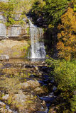 The River Twiss drops over Thornton Force waterfall as it continues on its journey Royalty Free Stock Photography