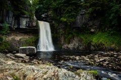 Thornton-Kraft Wasserfall, Ingleton, Yorkshire Lizenzfreie Stockbilder