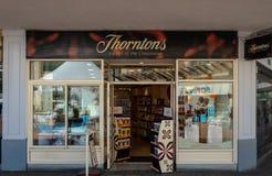 Thorntons sklepu pierzeja fotografia royalty free