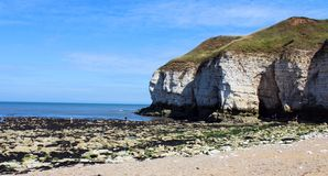 Thornwick bay east yorkshire Royalty Free Stock Images
