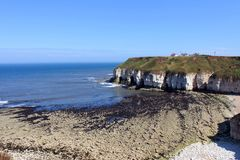 Thornwick bay east yorkshire Royalty Free Stock Image