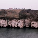 Thornwick zatoki North Yorkshire wybrzeże Anglia Obrazy Stock