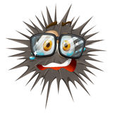 Thorny ball with crying face Royalty Free Stock Photos