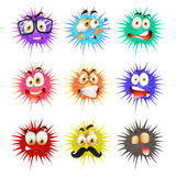 Thorny ball with faces Royalty Free Stock Photography