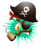 Thorny ball in pirate costume Royalty Free Stock Photography