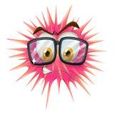 Thorny ball wearing eyeglasses Royalty Free Stock Photos