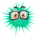 Thorny ball wearing glasses Stock Photography