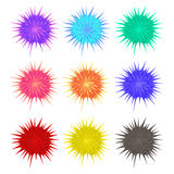 Thorny balls in different colors Stock Photo