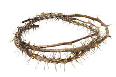 Thorny Branches Woven Into Crown Of Thorns Stock Photos