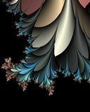 Thorny fern bush vector illustration