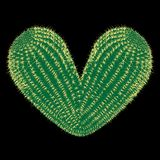 Thorny heart. Vector thorny cactus in the shape of heart illustration stock photography