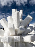 Thorny Snow sculpture Royalty Free Stock Images