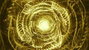 Thornz χρυσός του //4k 60fps Psychedelic οργανικός βρόχος υποβάθρου σχεδίων τηλεοπτικός απεικόνιση αποθεμάτων