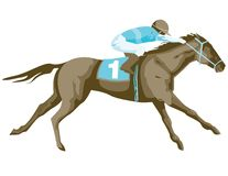 Thoroughbred Horse Racing Royalty Free Stock Photography