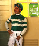 Thoroughbred Jockey Joel Rosario Stock Photo