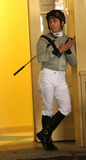 Thoroughbred Jockey Jose Valdivia, Jr. Stock Image