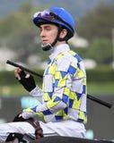 Thoroughbred-Jockey Michael Baze Stockbild
