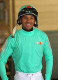 Thoroughbred Jockey Orlando Mojica Royalty Free Stock Photo