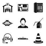 Thoroughfare icons set, simple style Royalty Free Stock Image
