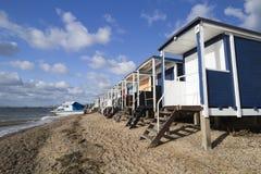 Thorpe Bay Beach Essex, England royaltyfria bilder