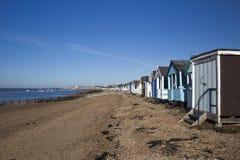 Thorpe Bay Beach Essex, England Royaltyfri Fotografi