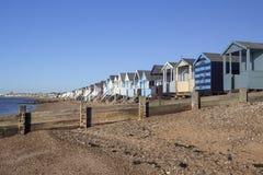 Thorpe Bay Beach Essex, England arkivbild
