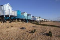 Thorpe Bay Beach Essex, England royaltyfri foto