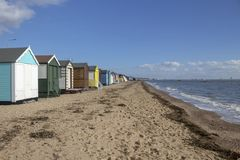 Thorpe Bay Beach Essex, England royaltyfri bild