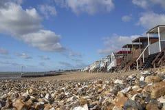 Thorpe Bay Beach Essex, England royaltyfria foton