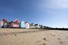 Thorpe Bay beach huts Stock Photography