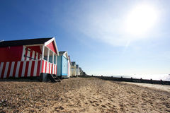 Thorpe Bay beach huts Royalty Free Stock Images