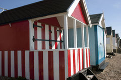 Thorpe Bay beach huts Royalty Free Stock Photo