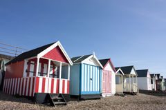 Thorpe Bay beach huts Royalty Free Stock Image