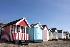 Thorpe Bay beach huts Royalty Free Stock Image