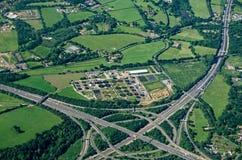 Thorpe Interchange, visión aérea Foto de archivo