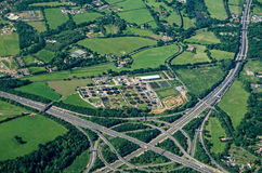 Thorpe Interchange, Vogelperspektive Stockfoto
