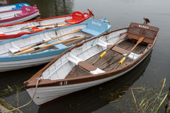 THORPENESS, SUFFOLK/UK - JUNE 1 : Group of rowing boats at Thorp Stock Photo