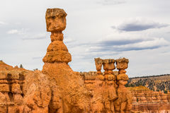 Thors Hammer. Extreme shaped sandstone rock named after Thors Hammer in Bryce Canyon National Park, Utah, USA Royalty Free Stock Photography