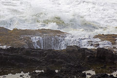 Thors Well Ocean Rock Feature In Oregon Royalty Free Stock Photo