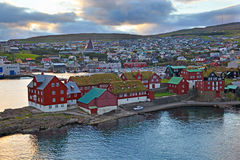 Thorshavn. Parliament (Logting) of the Faroe Islands in Thorshavn Stock Photography