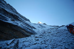 Thorung La, Annapurna, Nepal Stock Image